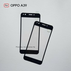 Full Cover Tempered Glass Warna Screen Protector for Oppo A39 - Black