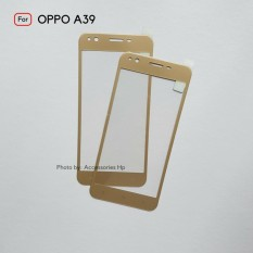 Full Cover Tempered Glass Warna Screen Protector for Oppo A39 - Gold