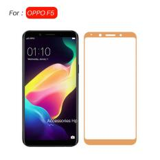 Full Cover Tempered Glass Warna Screen Protector for OPPO F5 - Gold