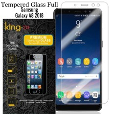 Full Cover Tempered Glass Warna Screen Protector for Samsung Galaxy A8 2018  Anti Gores Kaca  – B