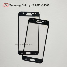 Full Cover Tempered Glass Warna Screen Protector for Samsung Galaxy J5 2015 / J500 - Black