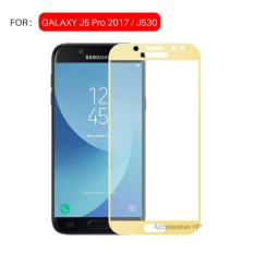 Full Cover Tempered Glass Warna Screen Protector for Samsung Galaxy J5 Pro 2017 / J530 - Gold