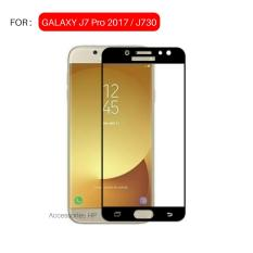 Full Cover Tempered Glass Warna Screen Protector for Samsung Galaxy J7 Pro 2017 / J730 - Black