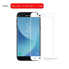 Full Cover Tempered Glass Warna Screen Protector for Samsung Galaxy J7 Pro 2017 / J730 - White