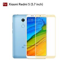 Full Cover Tempered Glass Warna Screen Protector for Xiaomi Redmi 5 (5.7 inch) - Gold