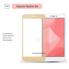 Full Cover Tempered Glass Warna Screen Protector for Xiaomi Redmi 5A - Gold
