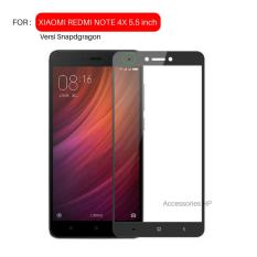 Full Cover Tempered Glass Warna Screen Protector for Xiaomi Redmi Note 4X / Note 4 Versi Snapdragon 5.5 inch - Black