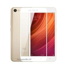 Full Cover Tempered Glass Warna Screen Protector for Xiaomi Redmi Note 5A Standar (Non Fingerprint) - White