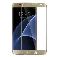 Menutupi Marah Kaca Penuh Ketangguhan Plating Pelindung Layar LCD untuk Samsung Galaxy S7 Edge 5.5 Inci (emas)