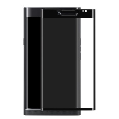 Full Ditutupi Melengkung 9 H Kekerasan Anti Ledakan Tempered Glass Screen Protector untuk BlackBerry Priv (Hitam)-Intl