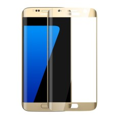 Penuh Ditutupi Melengkung Pelindung Layar Anti Gores untuk Samsung Galaxy S7 Edge (Emas)