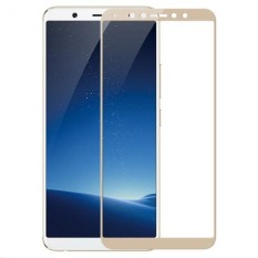 Full Covered Curved Tempered Glass Screen Protector for Vivo X20 Plus (Gold)