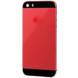 Beli Full Housing Alloy Replacement Back Cover With Mute Button Power Button Volume Button Nano Sim Card Tray For Iphone 5S Red Kredit Tiongkok