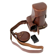 Full Protection Bottom Opening Versi Pelindung PU Kulit CameraCase Bag dengan Desain Tripod Kompatibel untuk Canon EOS 60D WithShoulder Leher Strap Belt dan Penyimpanan Kartu Case Dark Brown-Intl