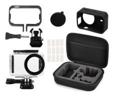 Penuh Pelindung Kit Bag Waterproof Perumahan Case Side Frame Cover Silicone Shell untuk Xiaomi Mijia 4 K Mini Kamera- INTL