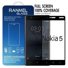 Jual Full Tempered Glass Ranmel Untuk Nokia 5 Premium Tempered Glass Anti Gores Screen Protector Hitam Grosir