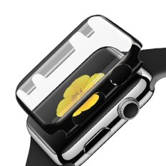 Sepenuhnya Cakupan Jam Tangan Layar Pelindung Cangkang Buah Pelapisan Tahan Abrasi Tahan Gores Tutup Pelindung dengan Bemper untuk Apple jam Tangan IWatch Seri 2 42 Mm Hitam-Internasional