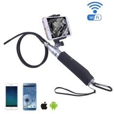 Fuskm Nirkabel Endoskopi-iPhone Android WIFI Borescope Video Inspection Kamera. 2 Juta Piksel HD Ular Kamera Anti-Air USB HD 720 P 6 LED Endoskopi Industri untuk Android/Jendela/IOS (1 M) -Internasional