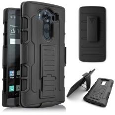 Pelindung Kerusakan Masa Depan Ekstrim Kasus untuk LG V10 H900 H968 901 VS990 Berdiri Klip Sabuk Sarung Dudukan Putar LGV10 Slim Case-Intl