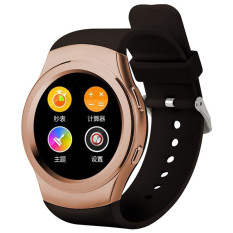 G3 MTK2502 Full Circular Bluetooth Smartwatch SIM GPRS Fashion Smart Watch (Emas)