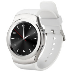 G3 MTK2502 Full Circular Bluetooth Smartwatch SIM GPRS Fashion Smart Watch (Putih)