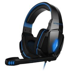G4000 Pro Gaming Headset Stereo Suara 2,2 Juta Wired Headphone (Hitam Biru)-Intl