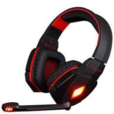 G4000 Pro Gaming Headset Stereo Suara 2,2 Juta Wired Headphone (Hitam Merah)-Intl