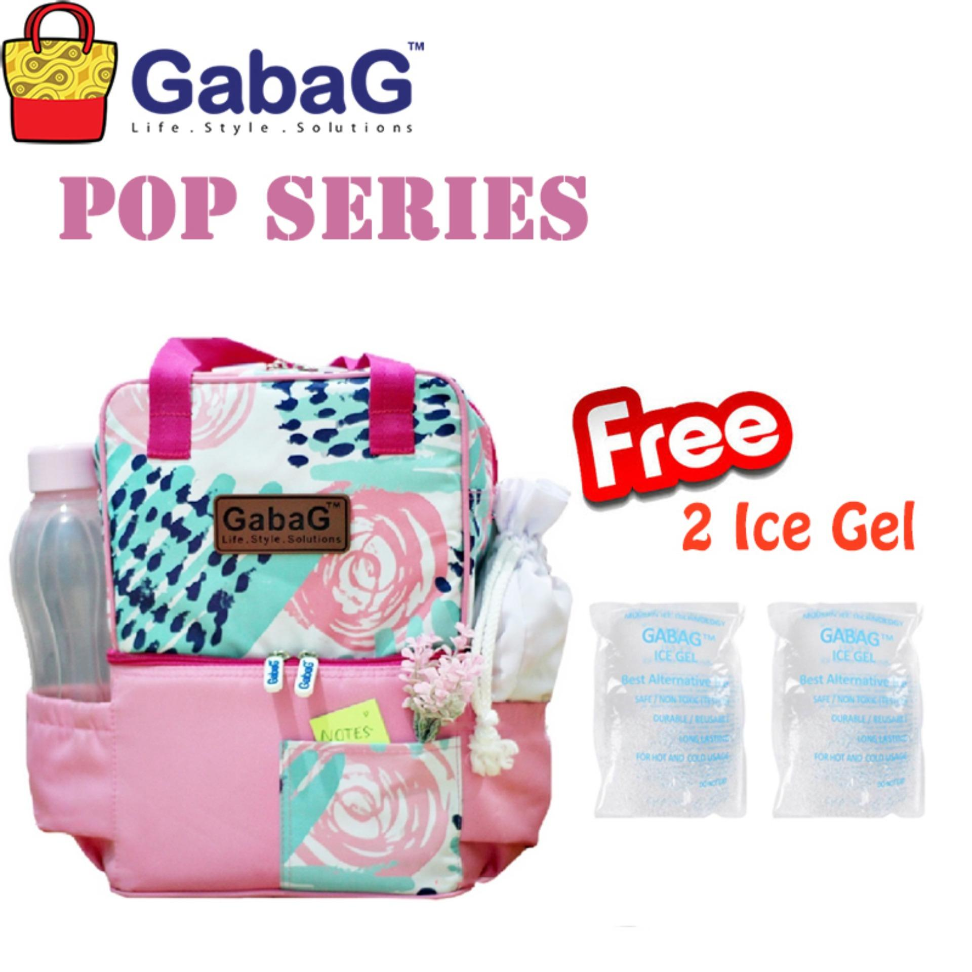 Promo Gabag Cooler Bag Pop Series Ceri Free 2 Ice Gel