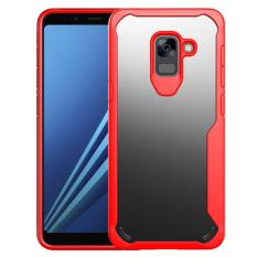 Galaxy A8 Plus 2018 Case, RUILEAN Slim Anti-Scratch Fexible TPU Frame with Transparent PC Back Case Cover for Samsung Galaxy A8 Plus 2018 (As Shown)