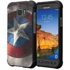 Galaxy S7 Active Case, Capsule-Case Slim Fit Snap-on (Black) Hard Case for AT&T Samsung Galaxy S7-Active SM-G891A - (Rock Star)