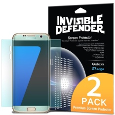 Galaxy S7 Edge Screen Protector, Ringke Invisible Defender [Full Coverage][2-Pack] Edge to Edge Curved Side Coverage HD Clearness Film for Samsung Galaxy S7 Edge - intl