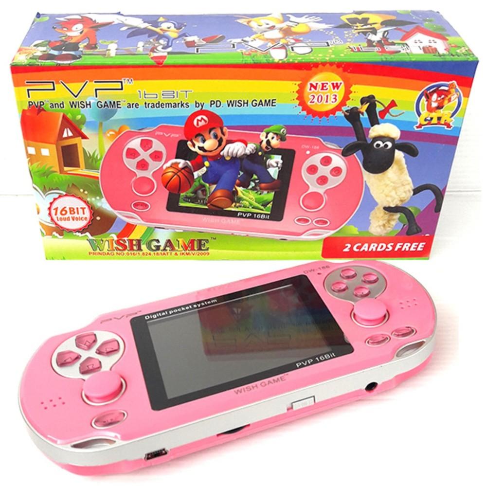 Game Boy Nintendo Sega PVP DW-186  Pocket Game Mainan Anak Nintendo Portabel Portable- Pink