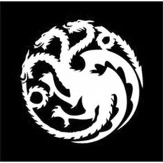 Game of Thrones - Mother of Dragons Decal Vinyl Sticker|Cars Trucks Vans Walls Laptop|WHITE|5.5 in|CCI372