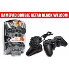 Gamepad Double Getar Hitam Welcom X Shock 2