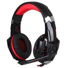 Spesifikasi Gaming Headphone 3 5Mm Game Headset Earphone Headband Dengan Mic Led Light Untuk Ps4 Laptop Tablet Ponsel Hitam Merah Terbaik