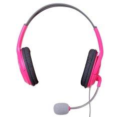 Harga Gaming Headset Headphone Rose Red Intl New