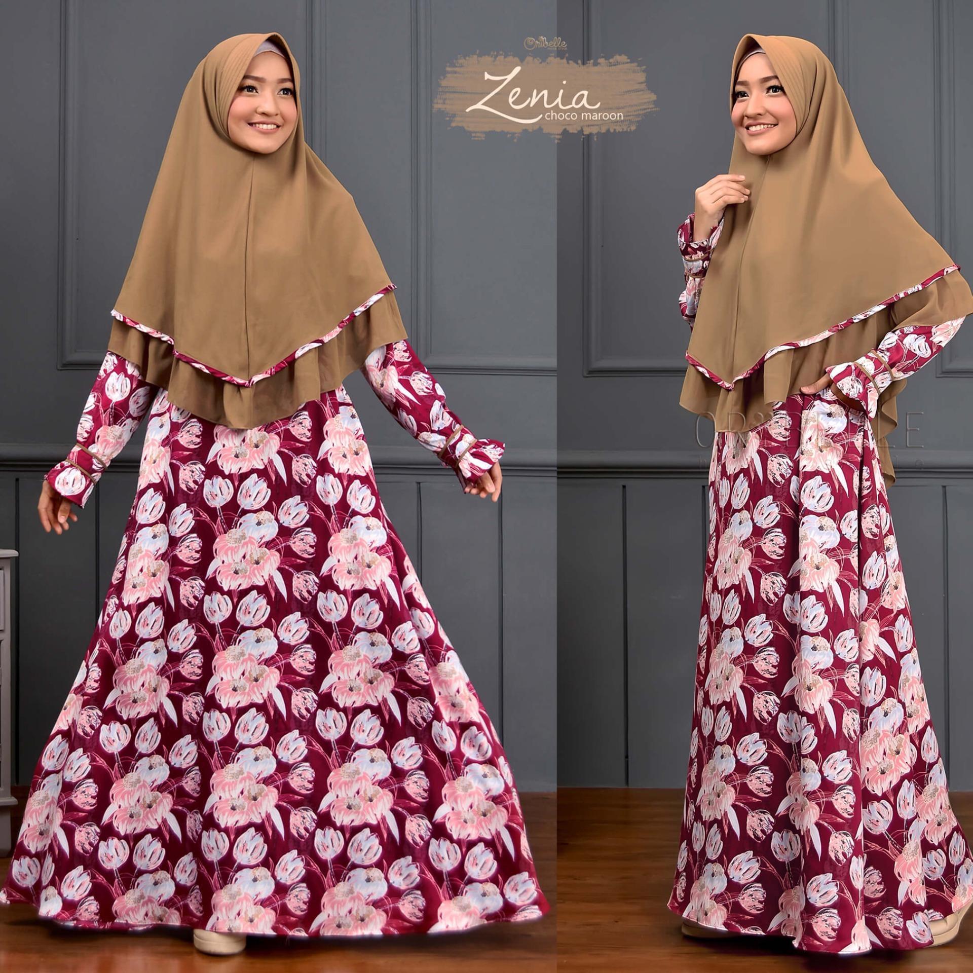 Gamis Syar'i Dress Syari + Khimar - Zenia - High Quality