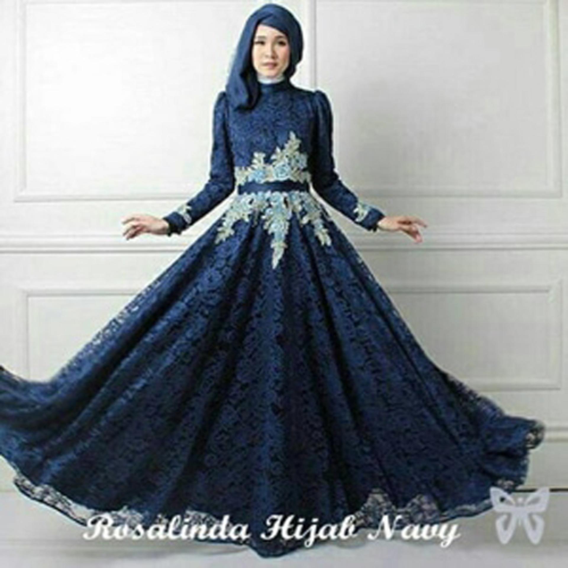 Gamis Syari Pesta - Hijab Dress Terbaru - Baju Kondangan Muslimah Syari - Dress Muslim - Gaun Pesta Muslim - Kebaya Modern - Maxi Dress Brukat - Gamis Brokat - ihrosalinda