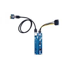 GaoLx Kartu Grafis Komputer Converter Kabel PCI-E 1X untuk 16X6 Pin DCDC USB 3.0 PCIE 16A Power Supply -Intl