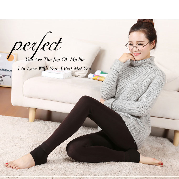 Beli Gaomi Pearl Velvet Legging Musim Gugur Dan Musim Dingin Melangkah Kaki Plus Beludru Tebal Celana Hangat Kopi Intl Oem