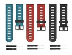 Gar Min Fenix 3/3 HR Bands, [3-PACK] Premium Soft Silicone Replacement Watch Band untuk Fenix 3/Fenix3 HR GPS Smartwatch Strap dengan Alat-Internasional