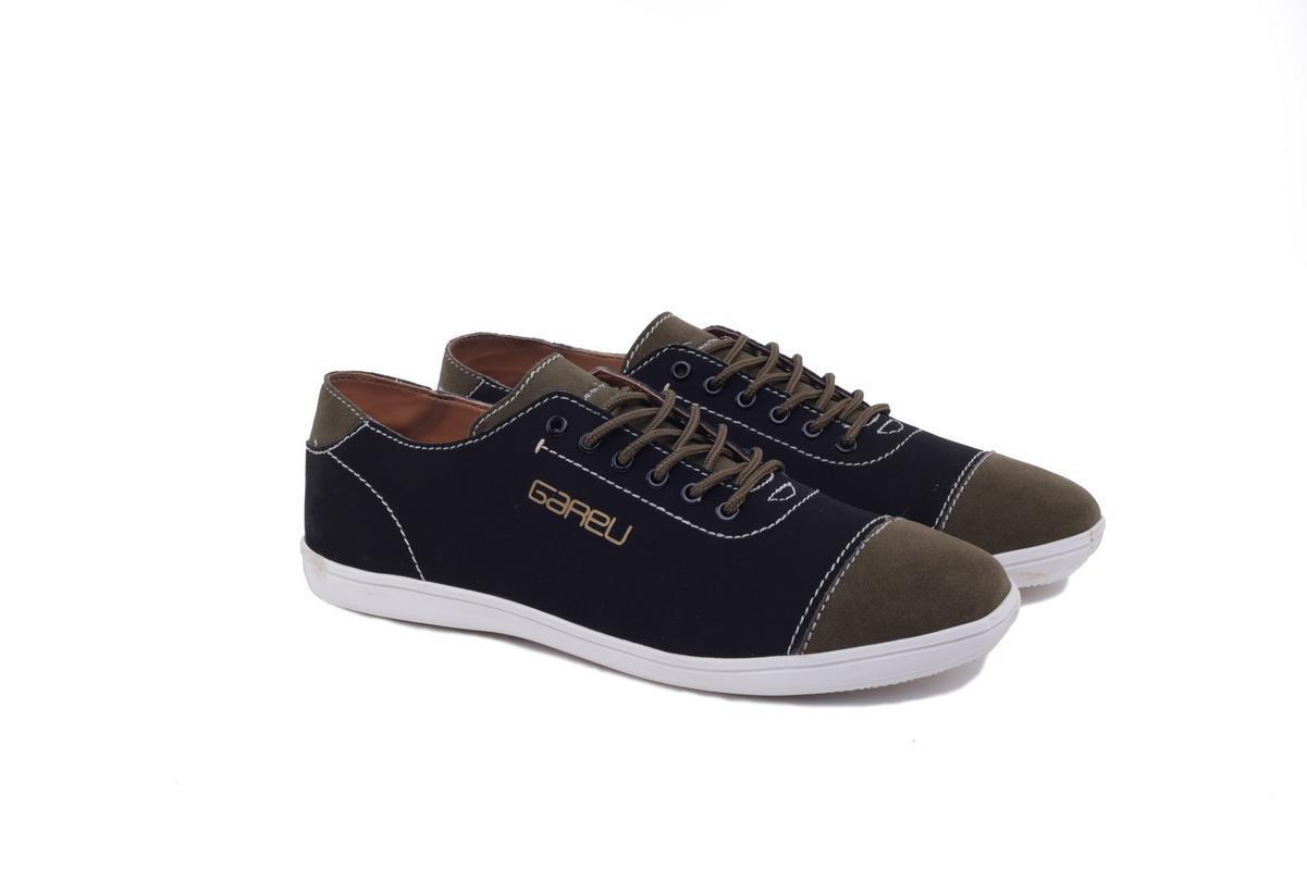 Gareu RTMI 1042 sepatu sneakers pria - synth - tpr - keren dan gaul(Black