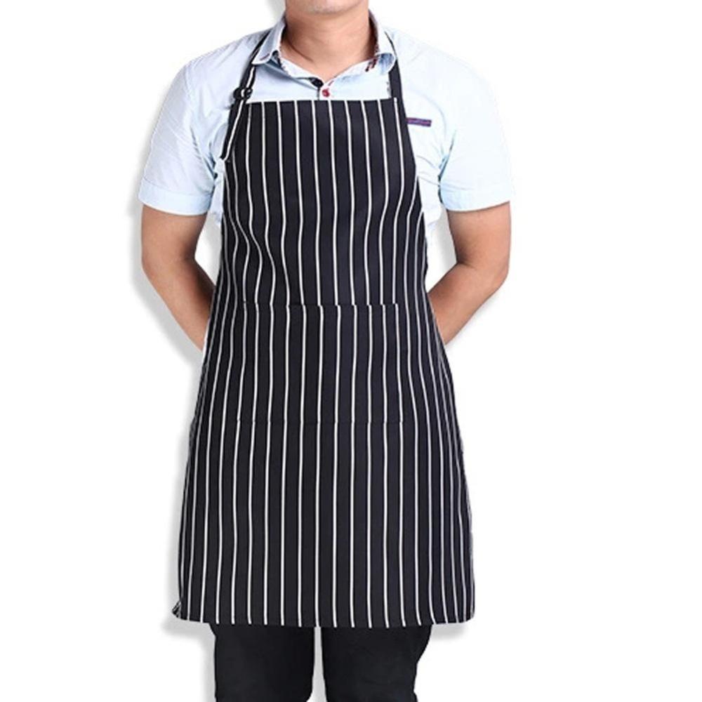Toko Garis Oto Apron Dengan 2 Saku Juru Masak Pelayan Dapur Alat Masak Internasional Oem Tiongkok