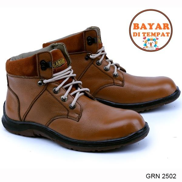 garsel-sepatu-safety-kuat-dan-modis-grn-2502-brown-1234-30063635-eb3be3dad177449489f26211330b76ef 10 Daftar Harga Sepatu Safety Garsel Paling Baru 2018