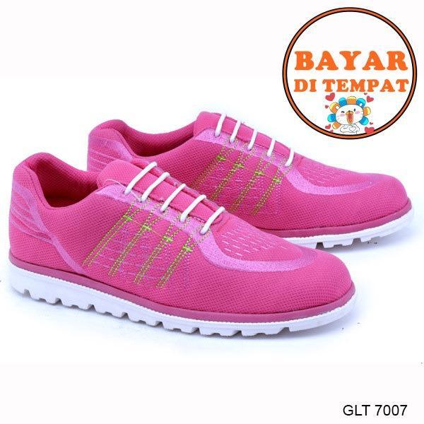 Review Toko Garsel Sepatu Sport Wanita Keren Kuat Dan Modis Glt 7007 Pink Online