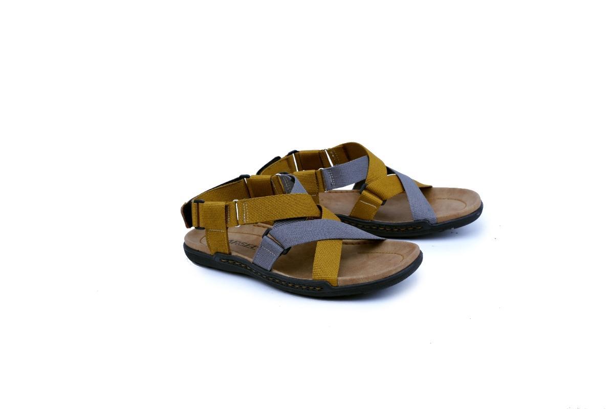 Garsel Shoes GAS 3410 Sandal Track / Gunung Pria-Webbing-Tpr - -New Katalog Murah Keren(Kuning Kombinasi)