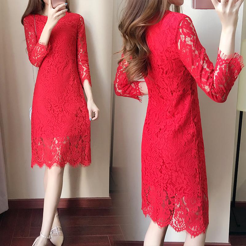 Harga Gaun Wanita Aneka Warna Renda Membentuk Tubuh Elegan Merah Baju Wanita Dress Wanita Gaun Wanita Yg Bagus
