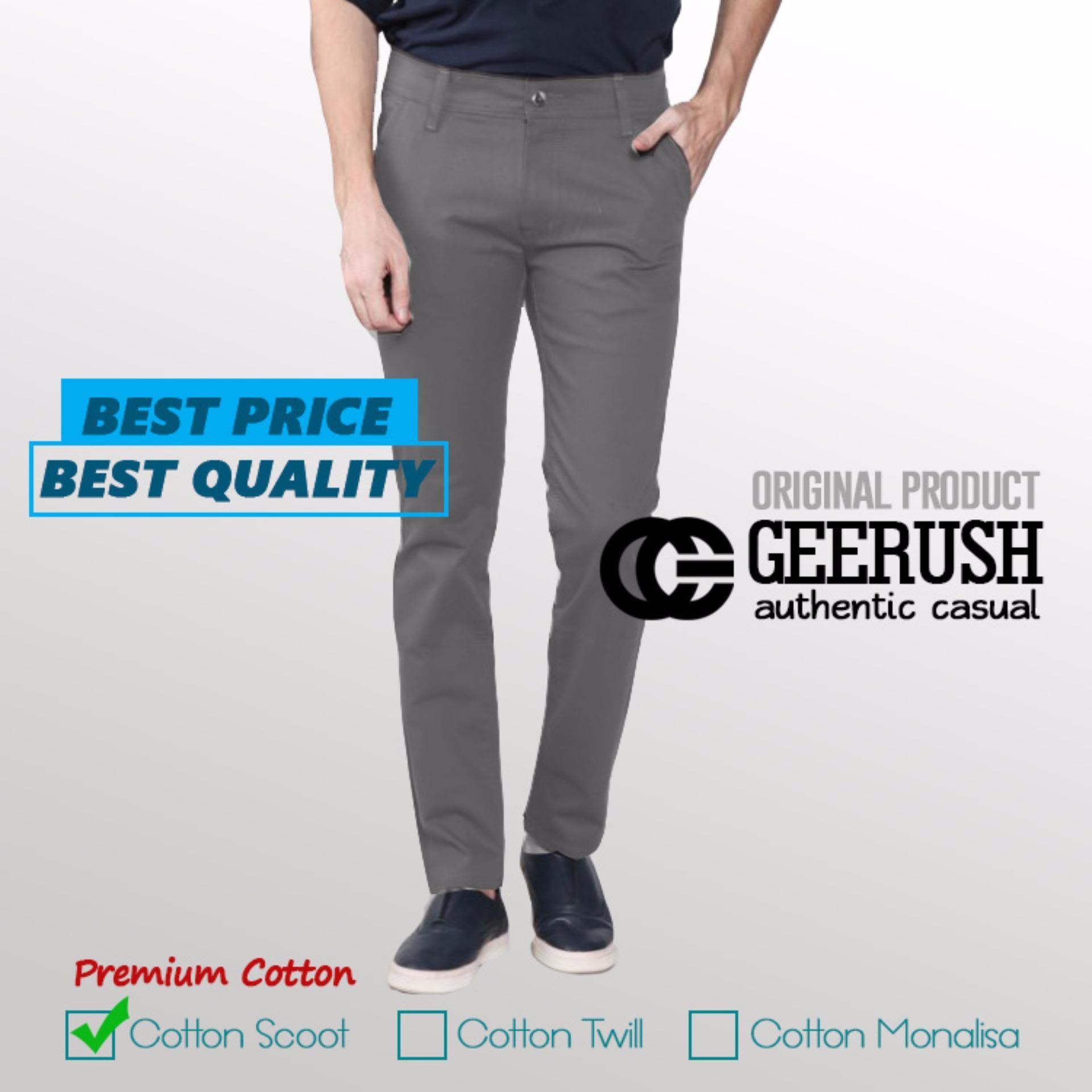 Gc Celana Chino Slim Fit Grey Terbaru