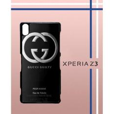 G**Ci Guilty Black Parfume Q0273 Casing Custom Hardcase Hp Sony Xperia Z3 Case Cover V00Y