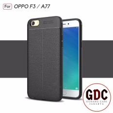 GDC Accessories Hp Premium Ultimate Shockproof Leather Case For OPPO F3 A77 - Black